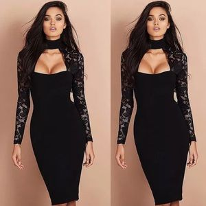 Dresses & Skirts - Also available in White- Lace Bodycon Eve Dress
